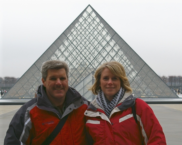 Standing in Front of the Louvre