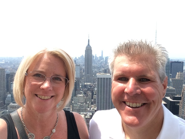 Dona and Pete on Top of the Rock