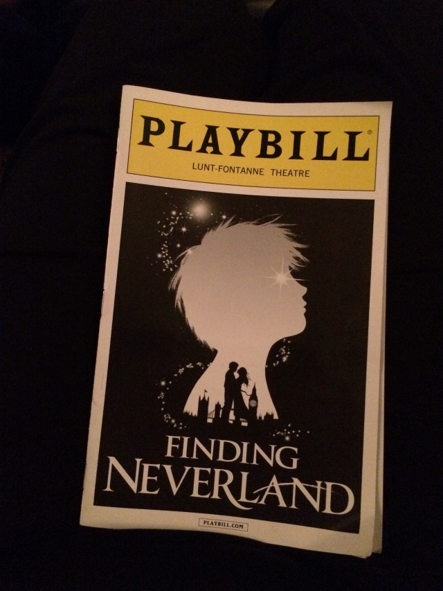 Playbill for Finding Neverland