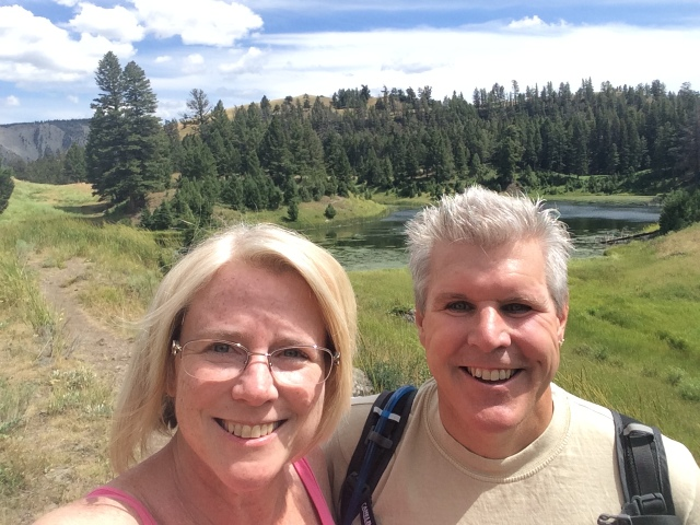 Pete and Dona Hiking in Yellowstone
