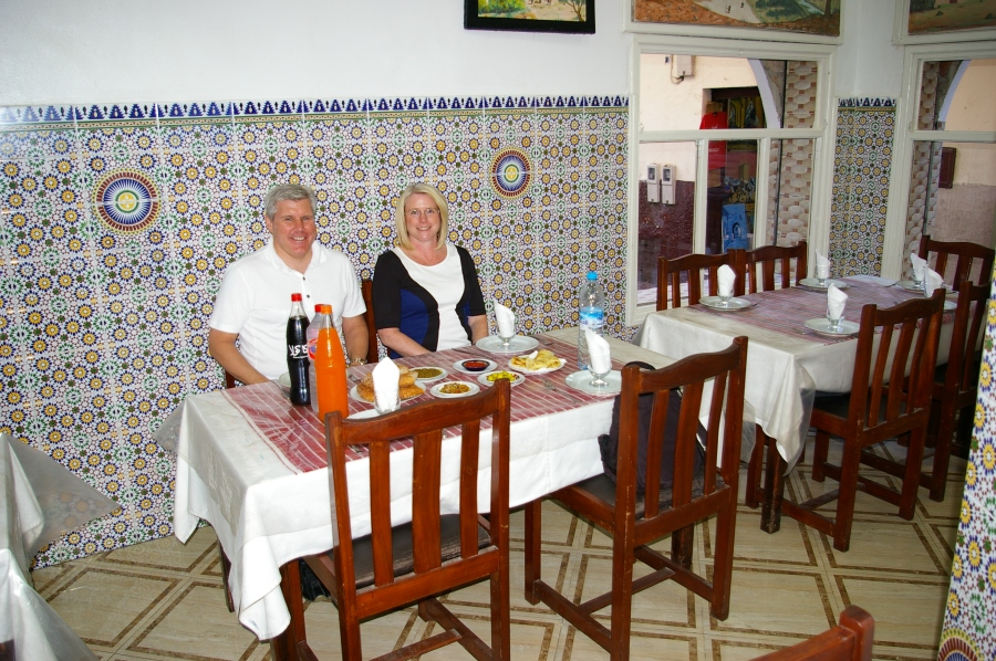 Lunch at a Moroccan Restaurant