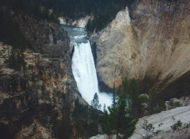 One of the Many Waterfalls in Yellowstone