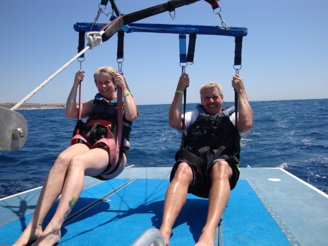 Parasailing in Mexico