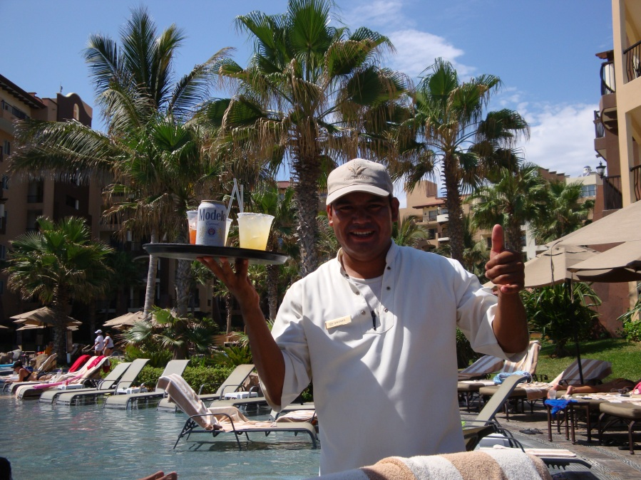 Our Favorite Poolside Waiter