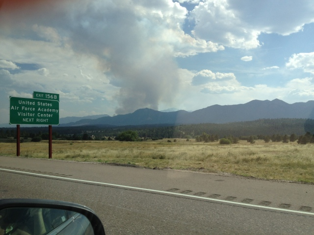 Waldo Canyon Fire as We Drove Home