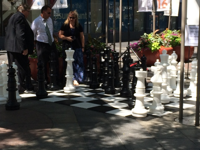 Giant Chess at Meet in the Street