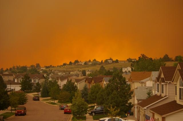 Waldo Canyon Fire Orange Smoke Plume