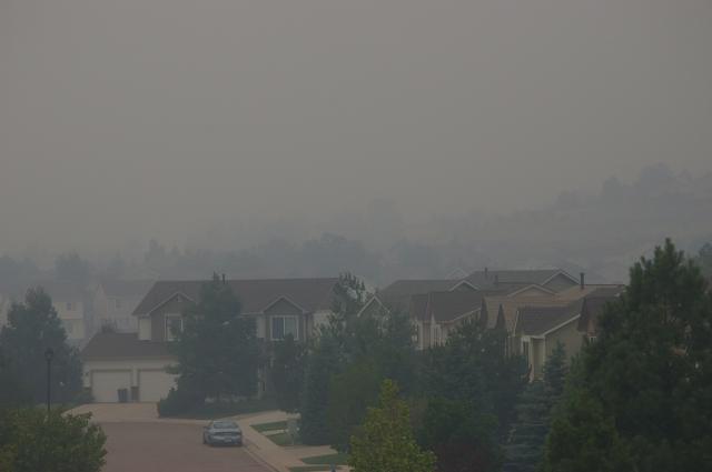 Waldo Canyon Fire Smoke Filled Neighborhood