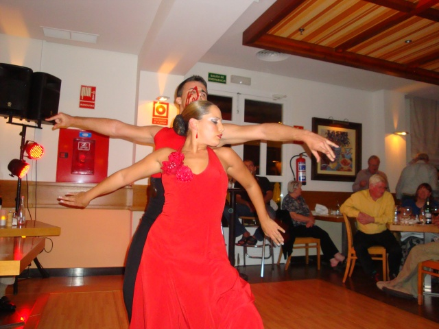 Flamenco Dancers at the Resort in Estapona Spain