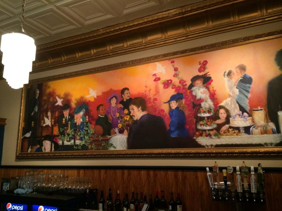 Mural in the John Bozeman Bistro