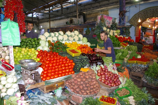 Fruit and Vegetable Vendor in Morocco