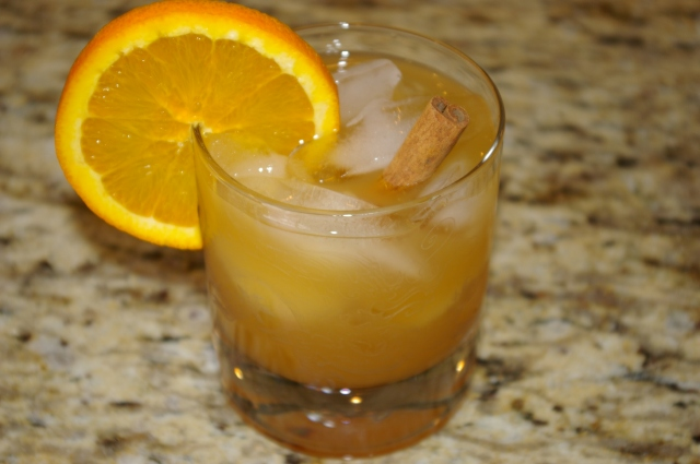 Enjoy the Spiked Cider in a Rocks Glass