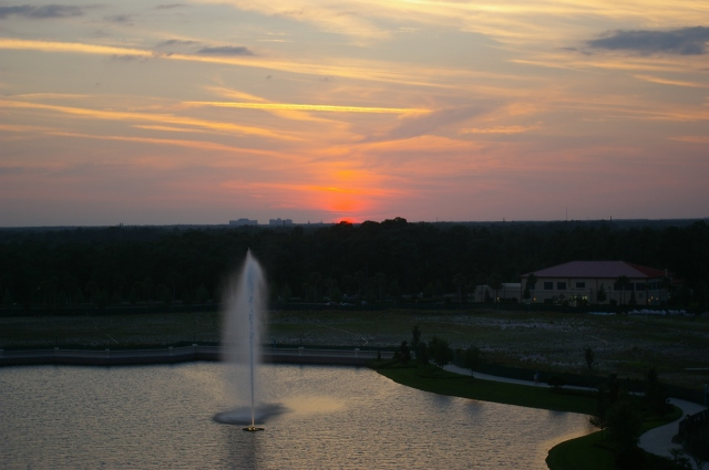 Sunset at Resort at Disney World
