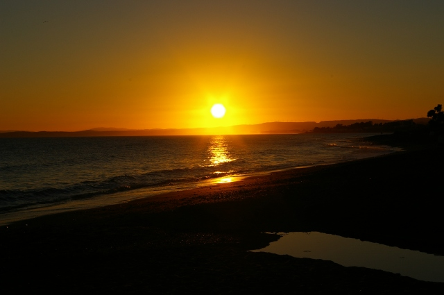 Sunset in the Costa Del Sol in Spain