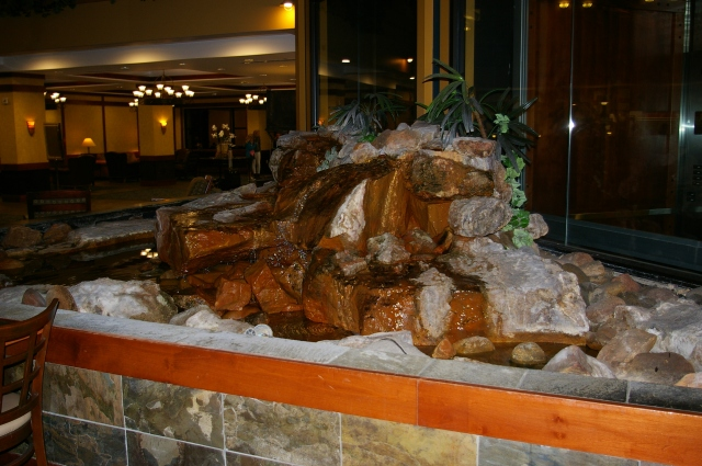 Water Feature at the Embassy Suites