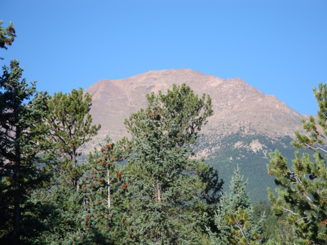 View of Pikes Peak from Barr Trail