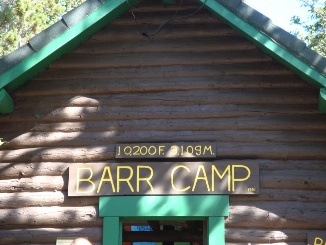 Barr Camp is the Halfway Point