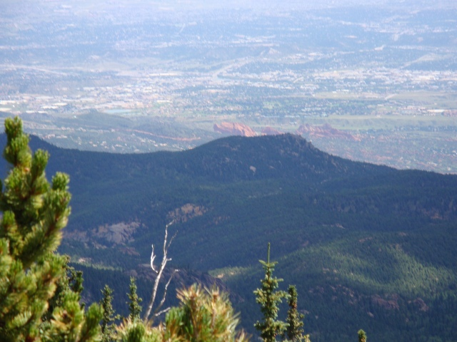 View from Barr Trail, Garden of the Gods at the Base of the Mountain