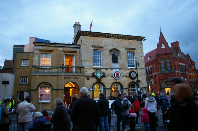 Gathering Outside of the Town Hall