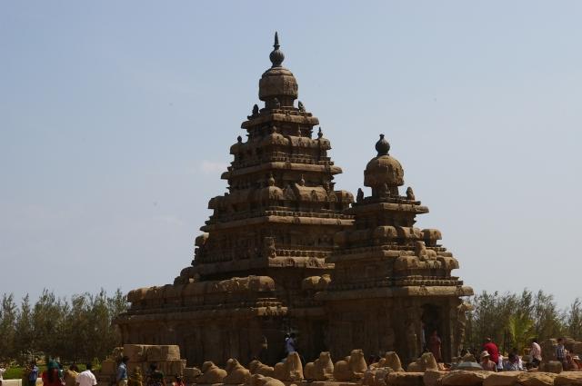 Temples at Mahabalipuram in India