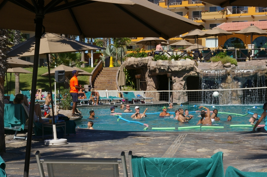 Volleyball in the Pool
