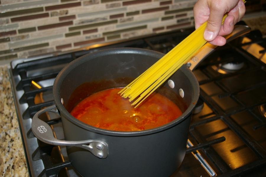 Add Spaghetti Noodles