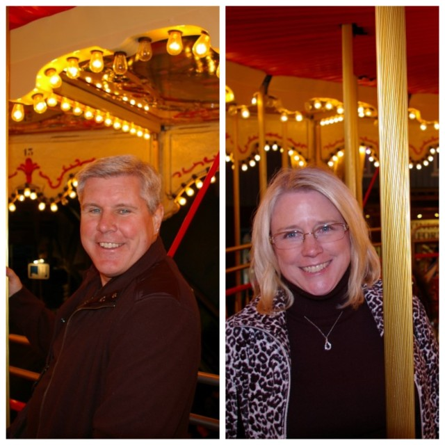 Pete and Dona on the Carousel
