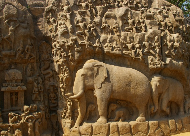 Carvings at Mahabalipuram