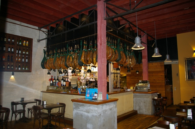Restaurant with Iberian Ham