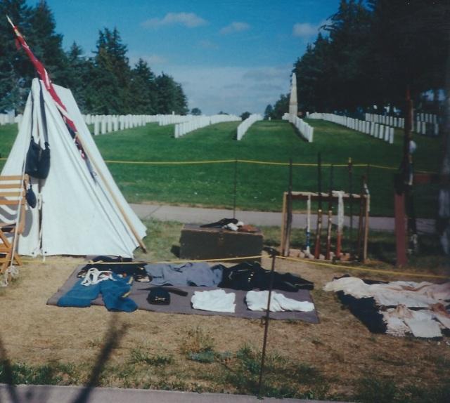 Memorial Tombstones at the Little Bighorn Battlefield National Memorial