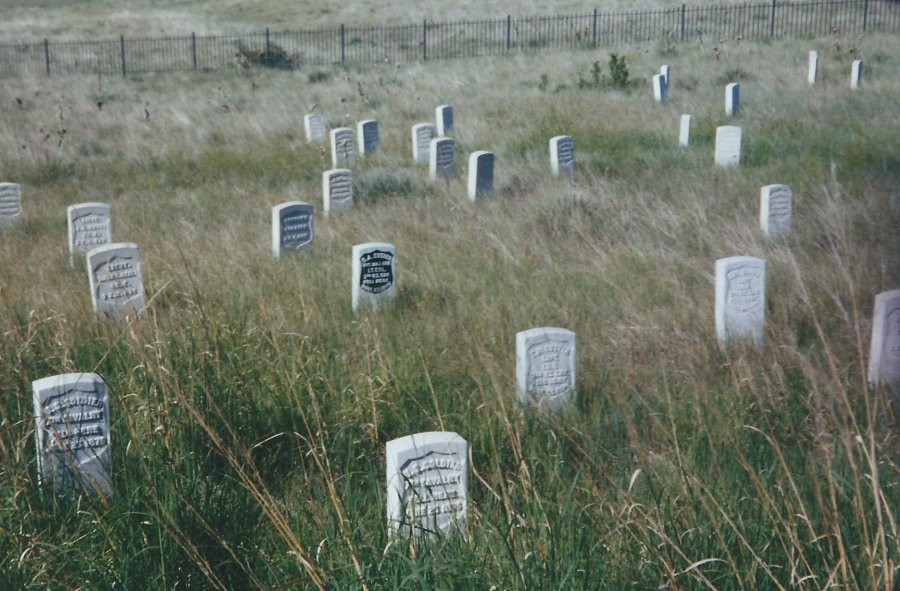 Actual Headstones where George Custer is Buried