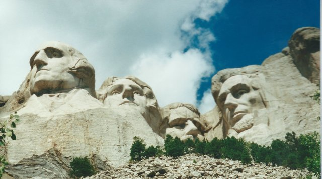 Looking Up at Mount Rushmore