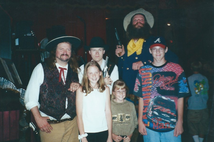A Photo Opportunity with the Actors at the Blue Bell Chuck Wagon Dinner