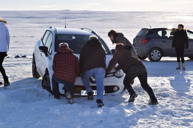 Car Stuck in Snowdrift