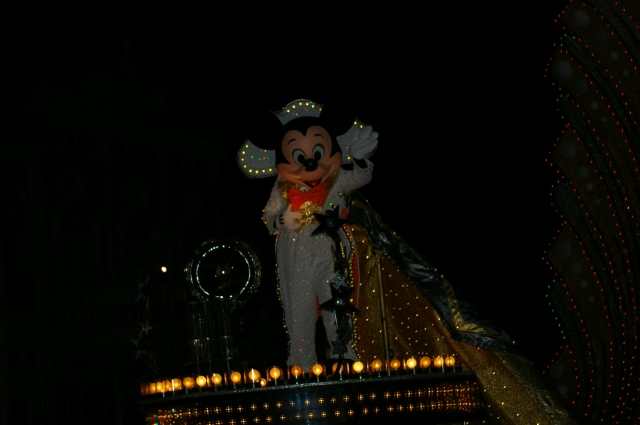 Mickey at the Night Time Parade