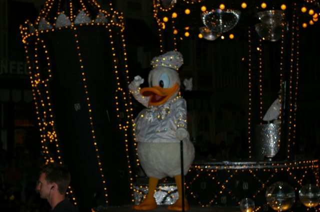Donald Duck at Night