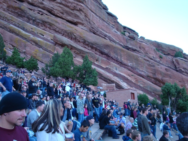Crowd Surrounded by Rock Formations