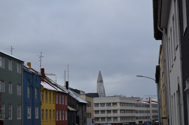 Street with Church Tower in the Distance