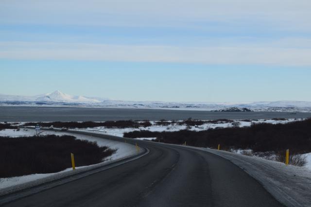 Driving to Borgarnes