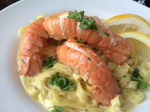 Lobster with Tagliatelle