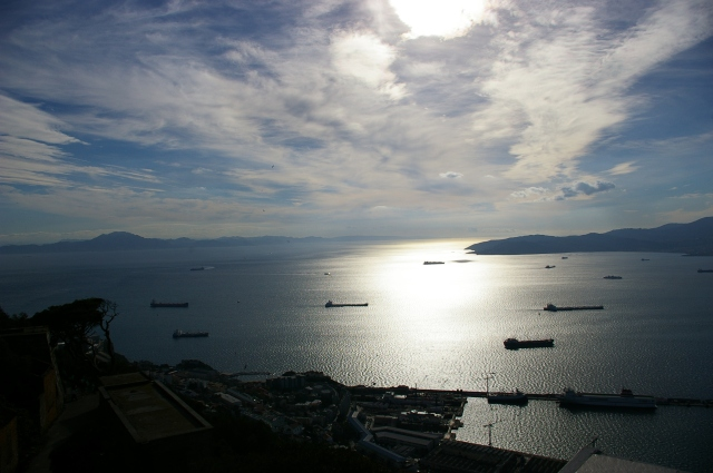 Cargo Ships on the Straight of Gibraltar