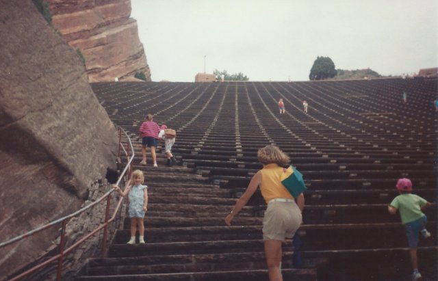 Climbing the Stairs of the Amphitheater
