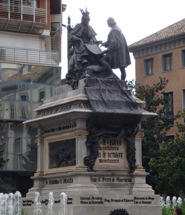 Columbus and Queen Isabella in Downtown Granada
