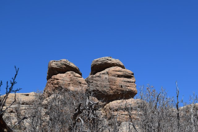 Boulders Against a Beautiful Blue Sky