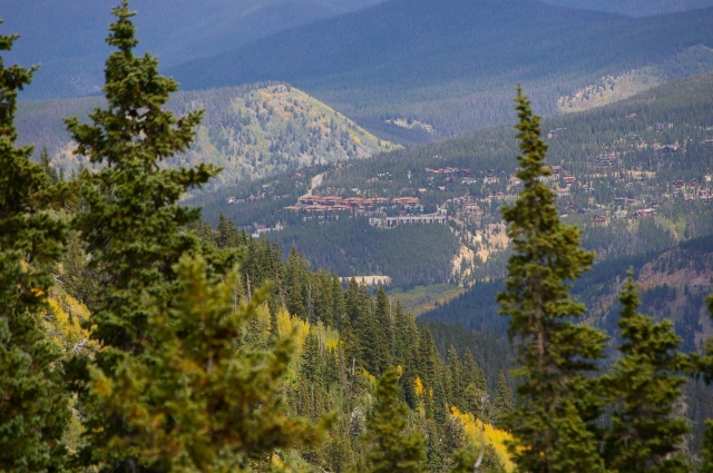 Looking Down at Breckenridge