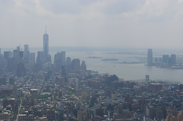 View South Towards the Statue of Liberty from the Empire State Building