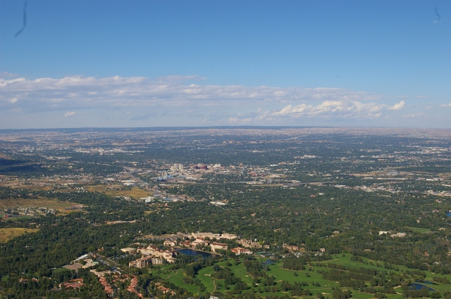 View from Cheyenne Mountain over Colorado Springs