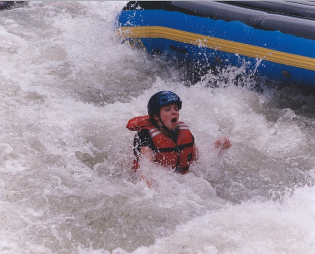 Our Oldest Daughter Emerging from the Raft