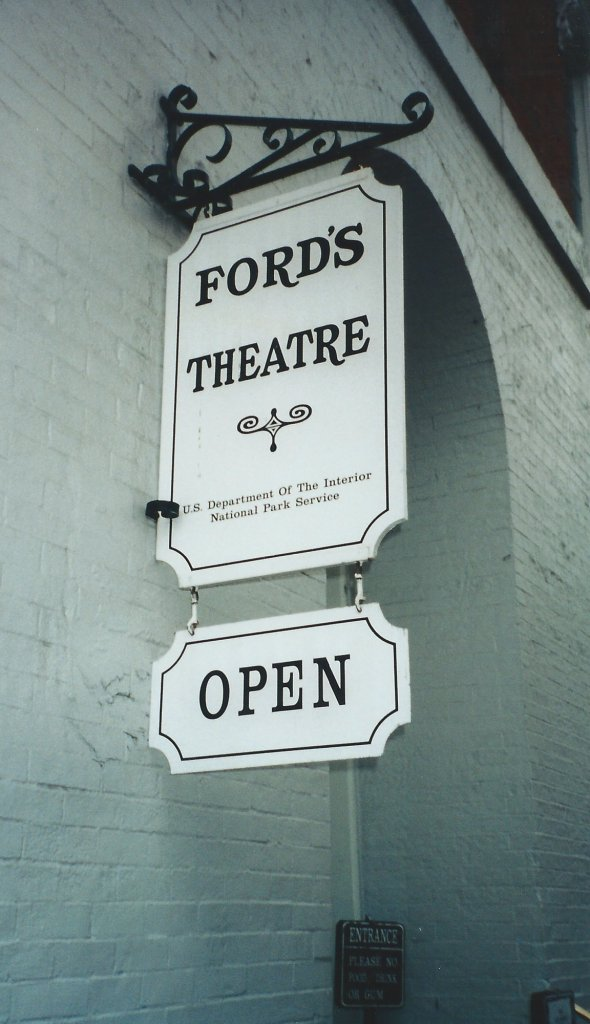 Ford's Theatre Sign