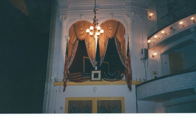 Ford's Theatre and the Balcony where Lincoln was Shot